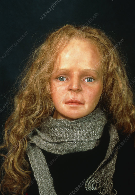 Reconstructed face of Yde Girl, a bog body
