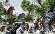 Prehistoric humans and animals