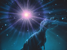 Supernova dinosaur extinction