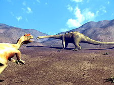 Allosaurus and Diplodocus