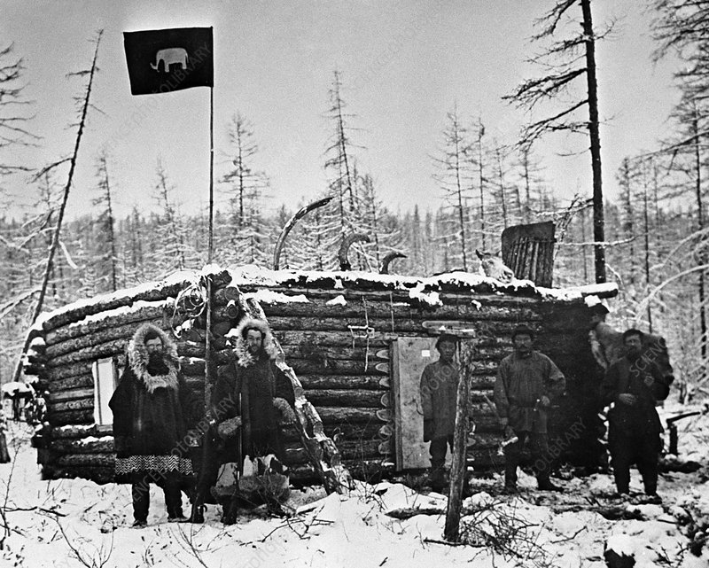 Mammoth research, Siberia, 1902