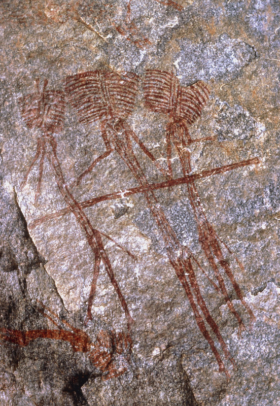Cave painting: Kolo-type figures from Tanzania