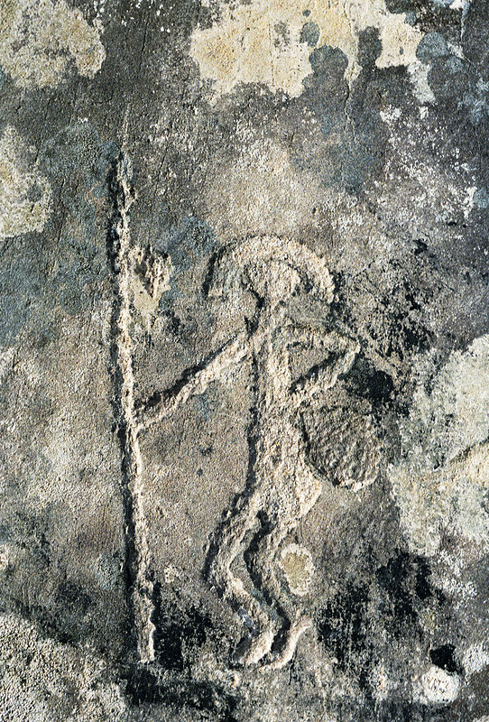 Stone age rock carving stock image e  science