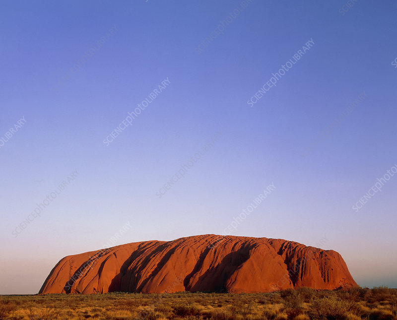 Ayers Rock or Uluru, Australia, at sunset