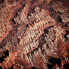 Eroded canyons