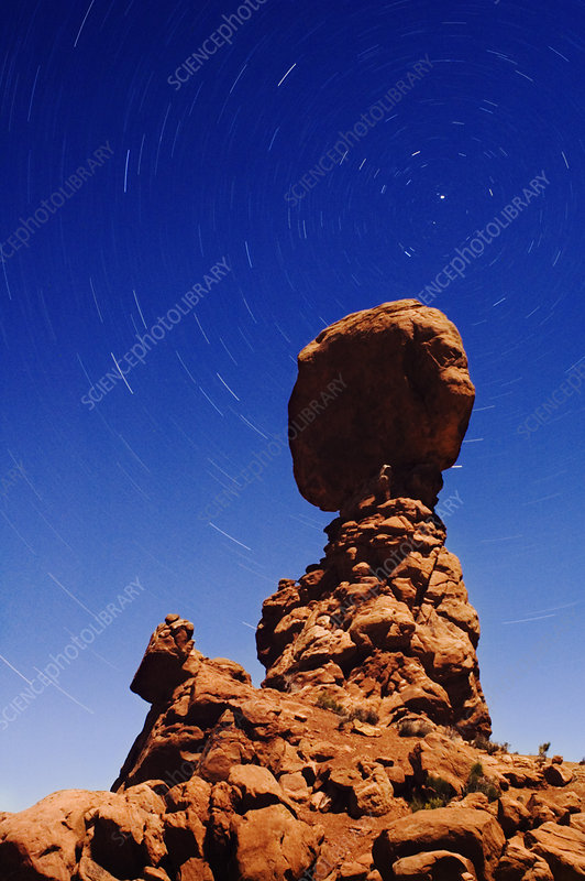 Eroded rock pillar