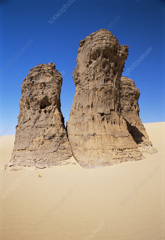 Eroded sandstone pillars
