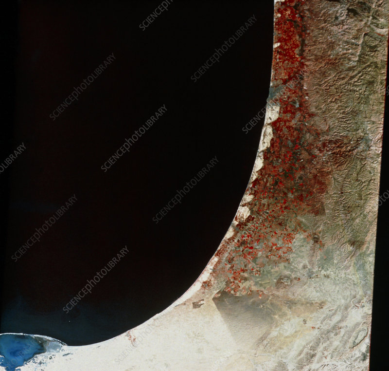 Gaza Strip and Israel from space