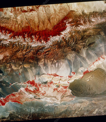 Landsat pic of Turfan depression in Weste