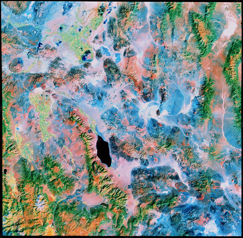Nevada high desert from space