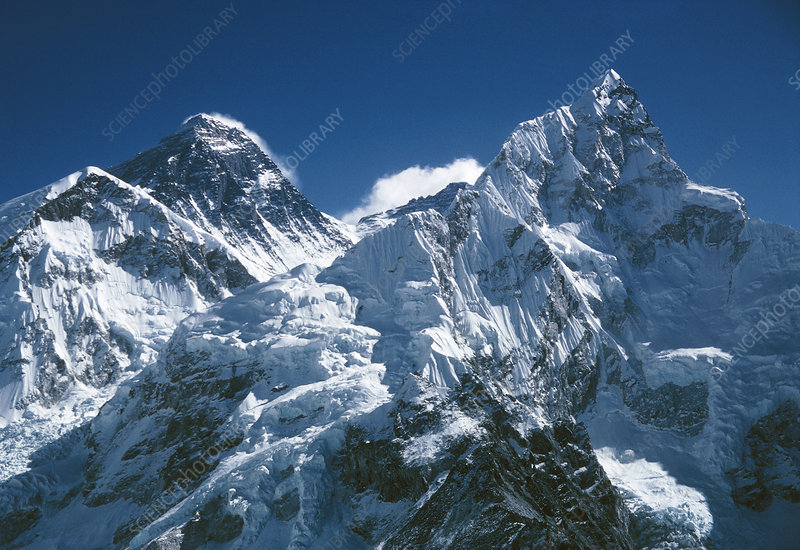 Mnts. Everest & Nuptse with south col in between