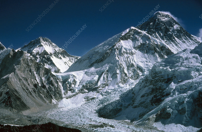 Changtse, Khumbu ice-fall and Everest