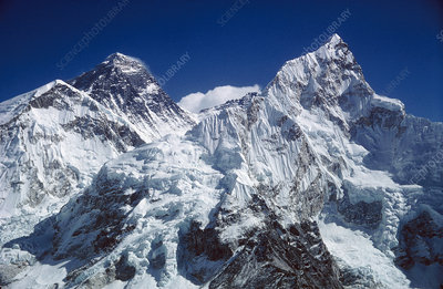 Everest and Nuptse mountains