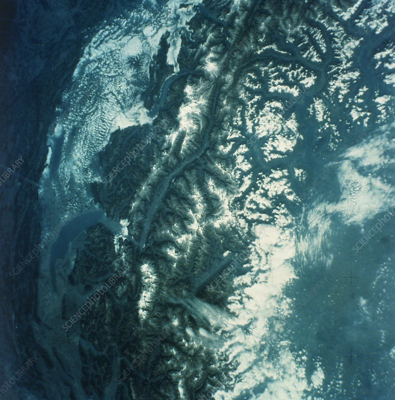 Swiss Alps from space