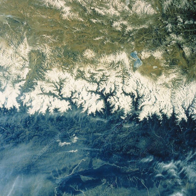 Himalayan Mountains from space