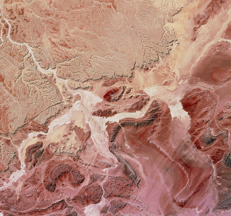 Atlas mountains, from space