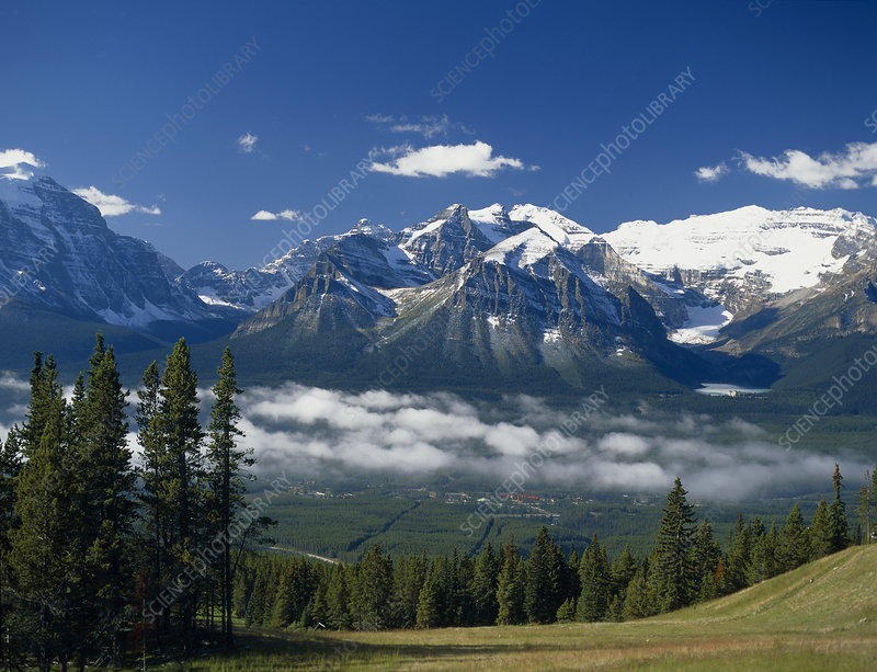 Mountains in Banff National Park, Alberta, Canada