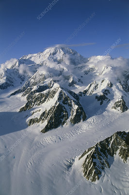 Aerial view of Mount McKinley, Alaska, USA
