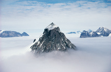 Nunatak mountain peak