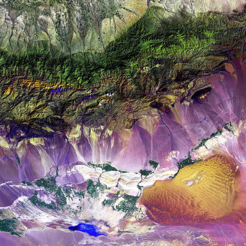 Turpan Depression, satellite image