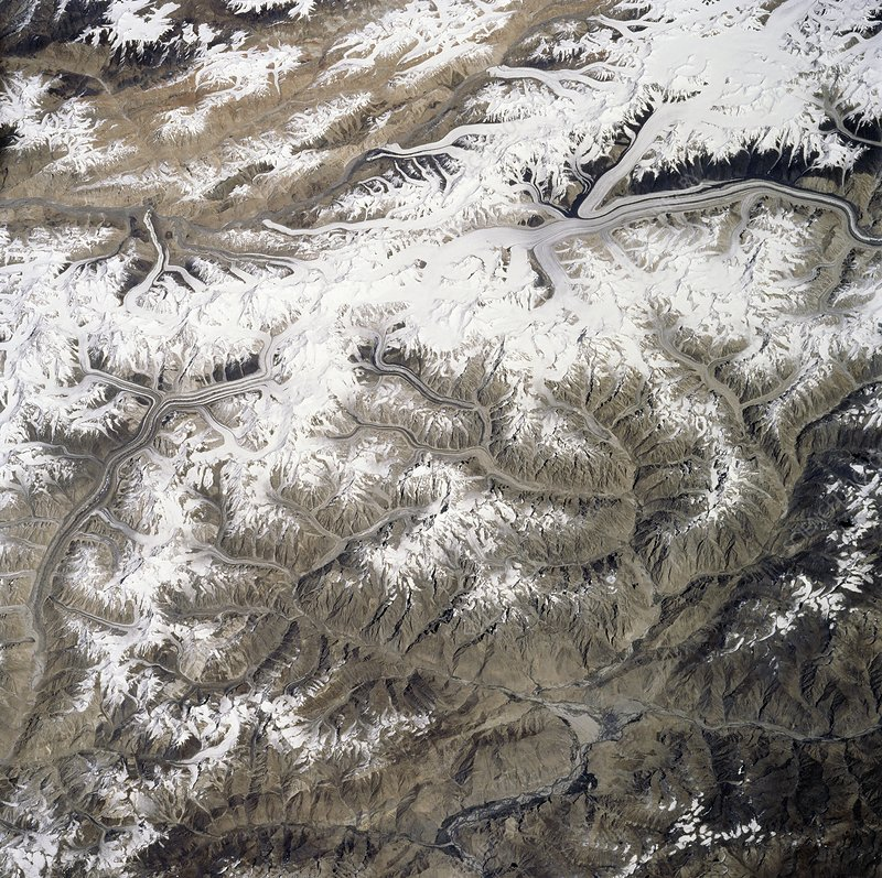 K2 mountain, Space Shuttle image