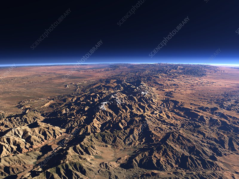 Atlas mountains, 3D computer artwork