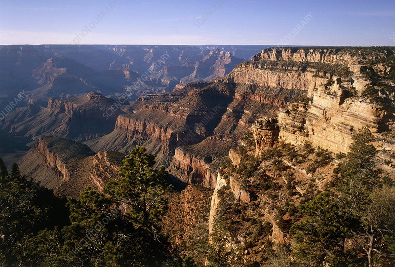 View of Grand Canyon, Arizona, from South Rim