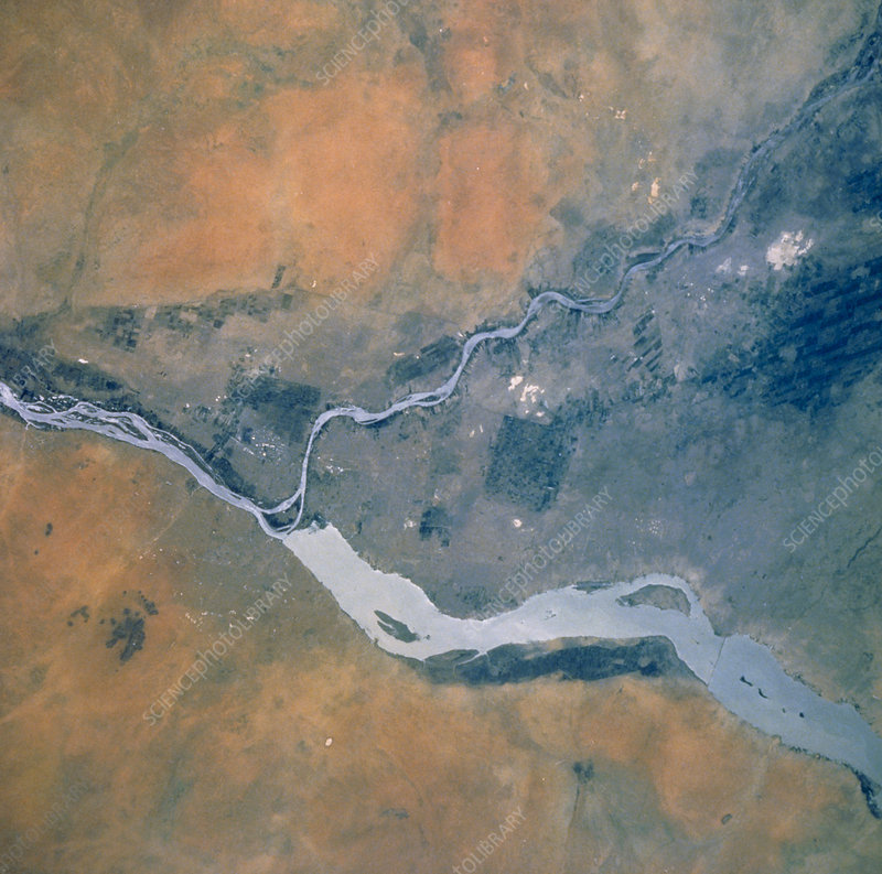 Shuttle photograph of the Nile