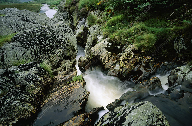 Mountain river in the Cambria Mountains, Wales