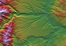 Rivers on Corral de Piedra, radar image