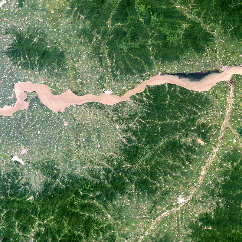China's Songhua River in flood