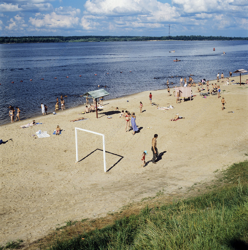 Beach on the River Volga