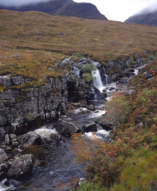 Rocky stream in moorland