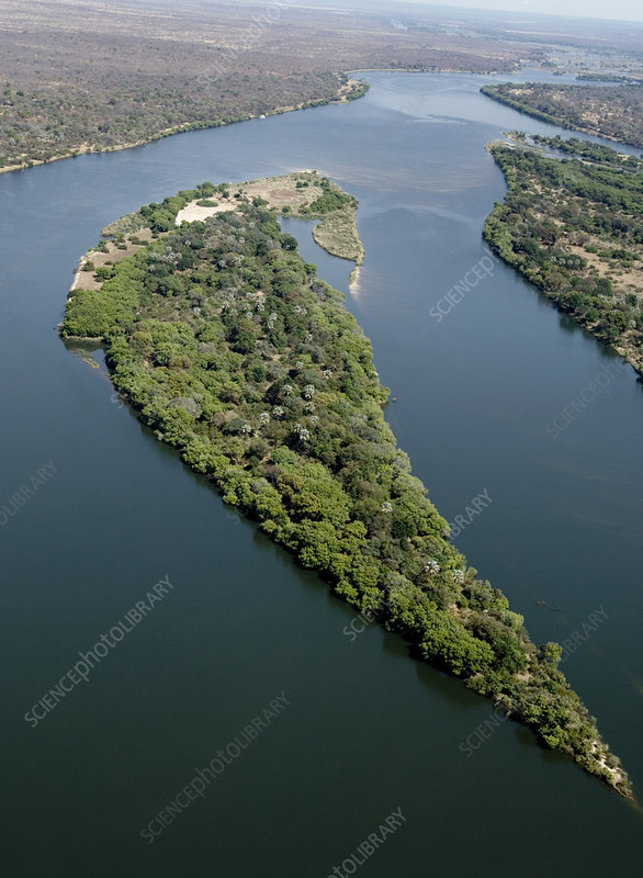 Island on the Zambezi river
