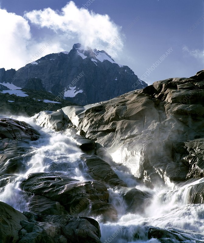 Mountain stream, Swiss Alps