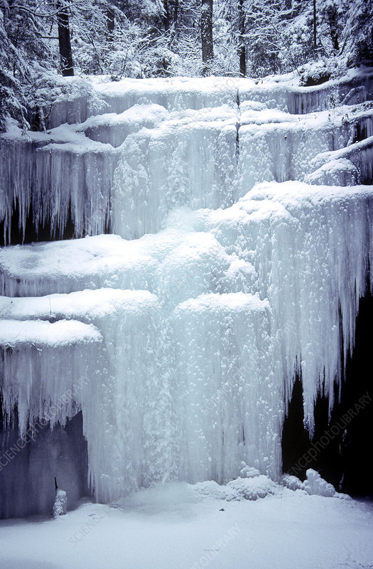 Frozen Waterfall in Hocking State Park, OH
