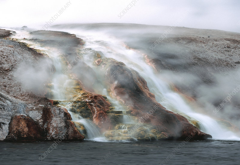 Steaming Waterfall on Firehole River