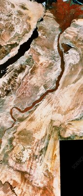 Landsat mosaic of river Nile and Delta