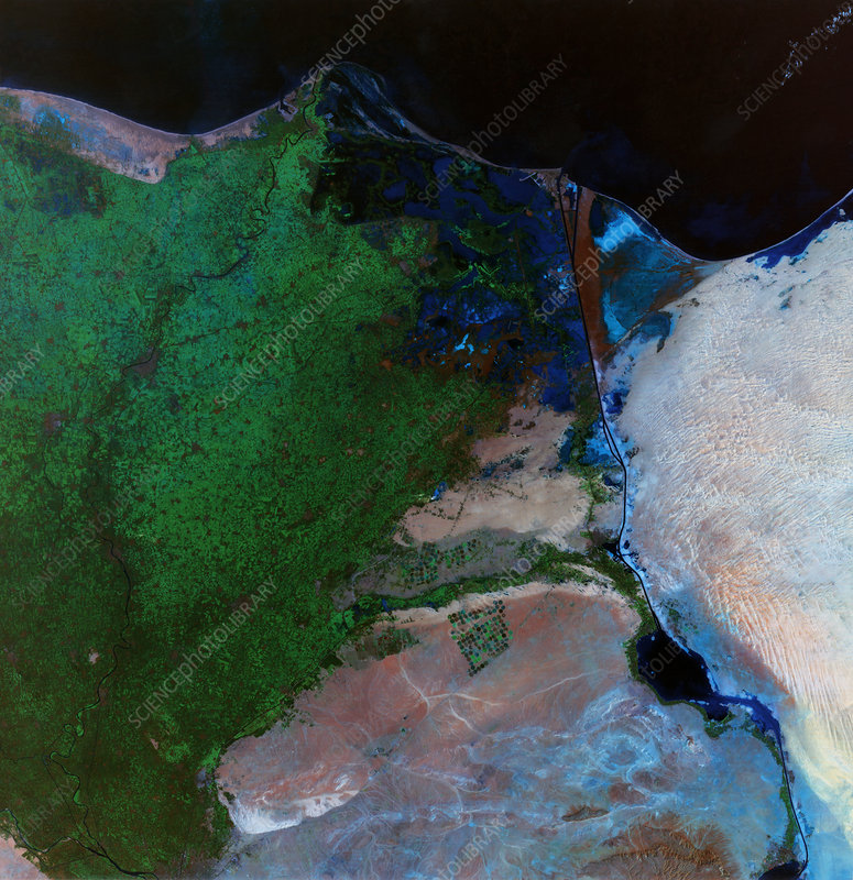 River Nile Delta And Suez Canal