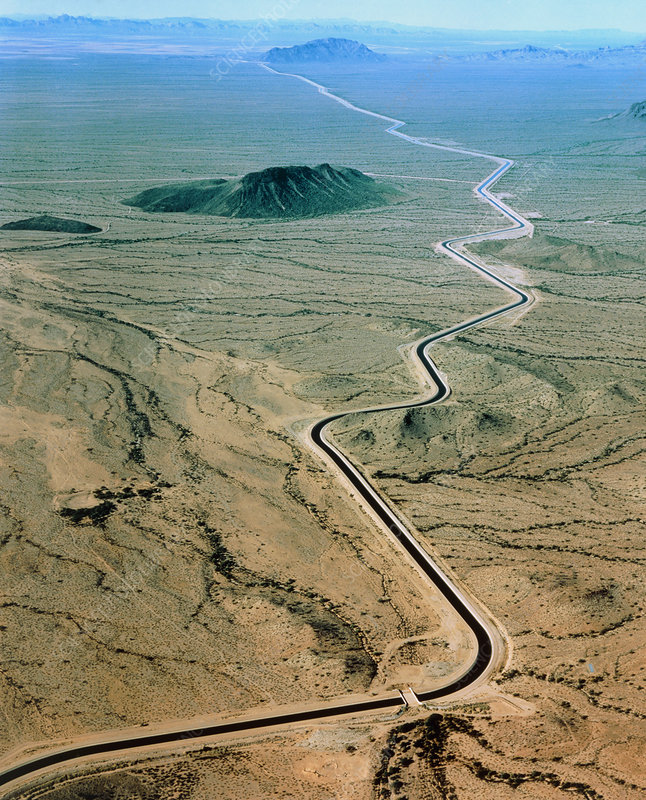 Aerial view of Central Arizona Project canal