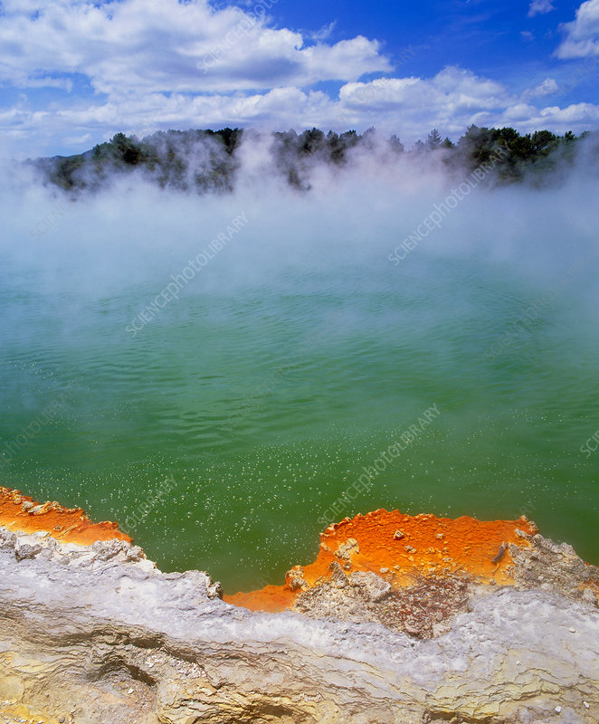 Hot water Champagne Pool at Waiotapu, New Zealand