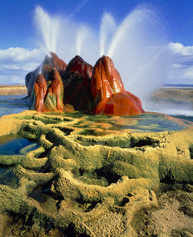 Fly Geyser in the Black Rock Desert, Nevada, USA