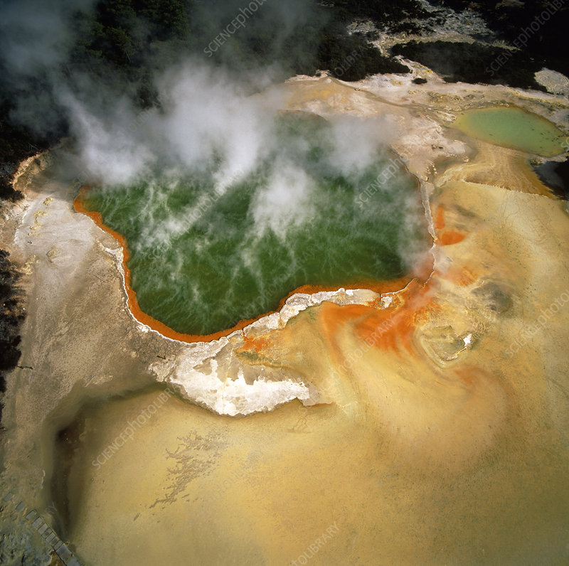 Geothermal Champagne Pool at Waiotapu, New Zealand