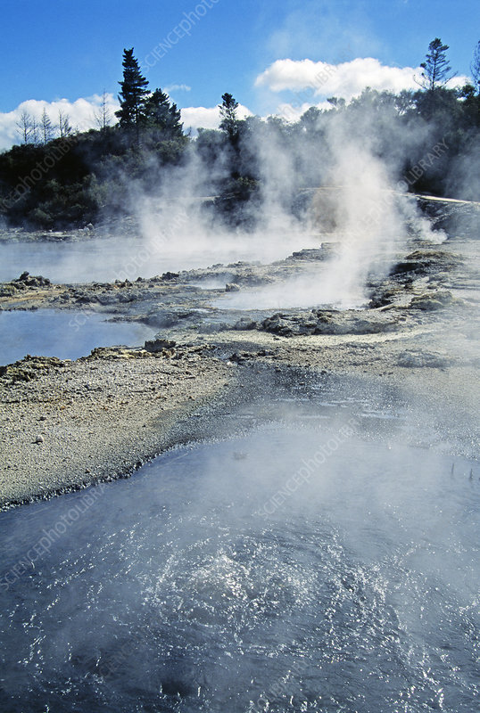 Geothermal mud pools
