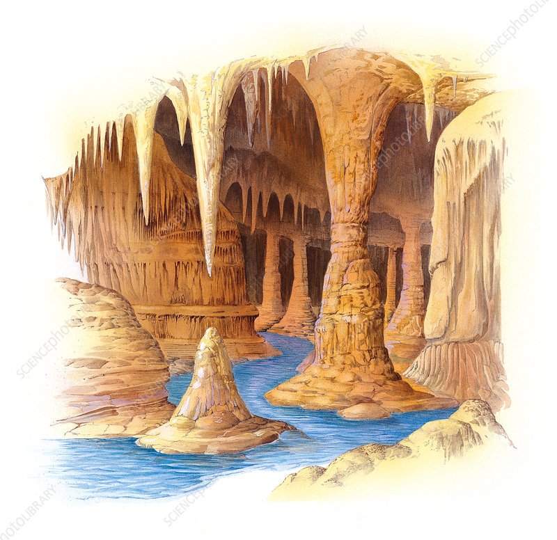 Stalactites and stalagmites, artwork