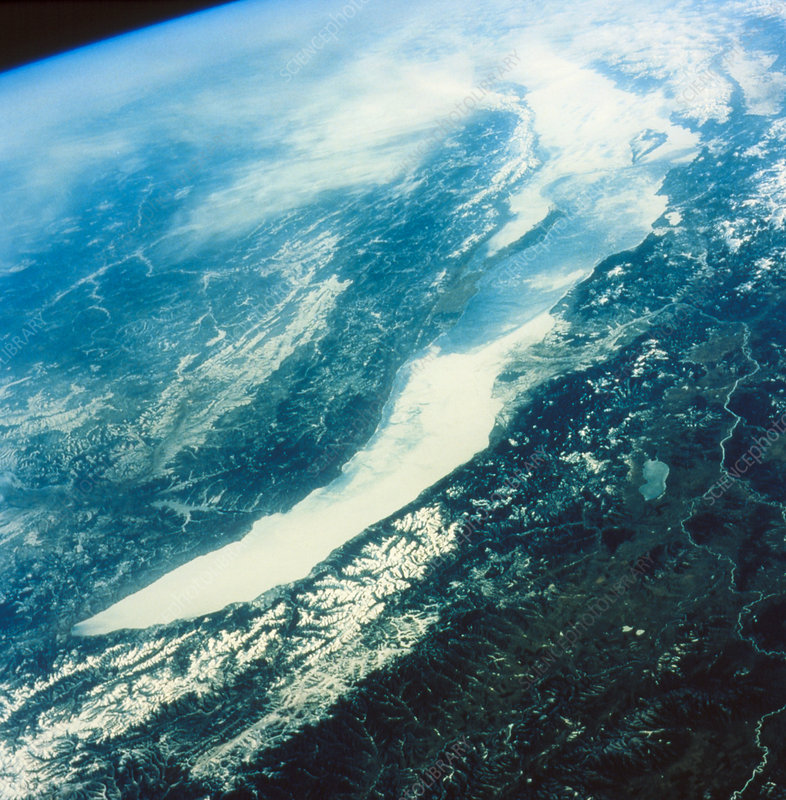 Shuttle STS-45 view of Lake Baikal