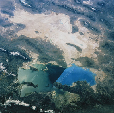 Great Salt Lake USA seen from space, STS-45