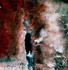 Dead Sea, satellite image