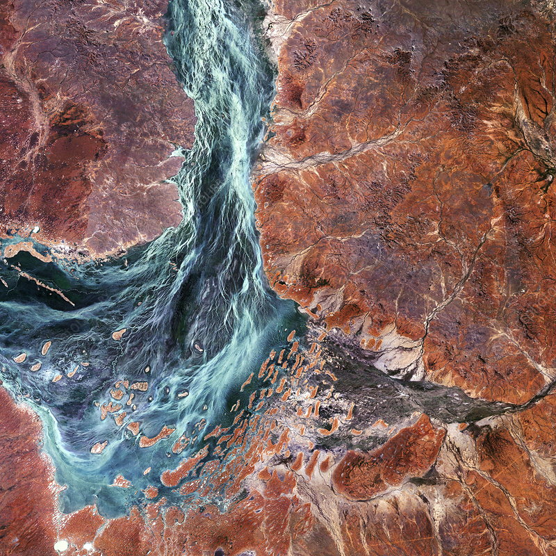 Salt lake in the Australian desert