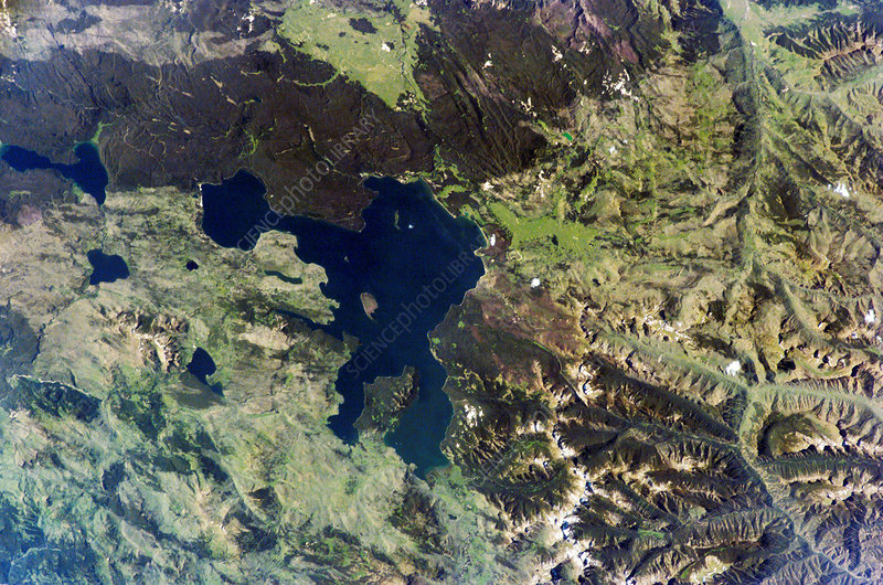 Yellowstone Lake, USA, from the ISS